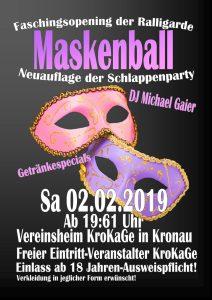 Faschingsopening der Ralligarde 2019 @ Kronau, Vereinsheim KroKaGe