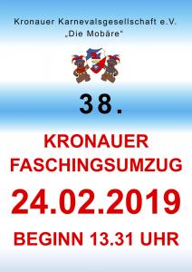 38. Kronauer Faschingsumzug @ Kronau, Ortsmitte