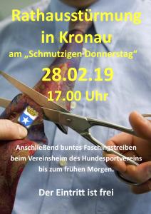 Rathausstürmung @ Kronau, Rathaus